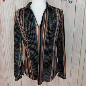 Vintage Levi Strauss & Co. V-neck Long Sleeve Top
